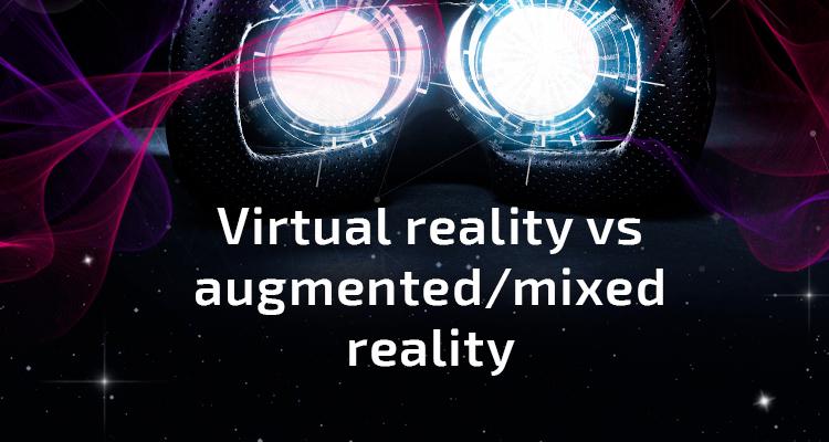 Infographic: virtual reality vs augmented/mixed reality