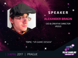 Alexander Bragin to tell about VR game content development