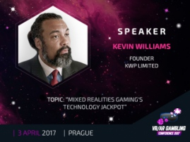 Kevin Williams, KWP founder, to share his experience at VR/AR Gambling Conference