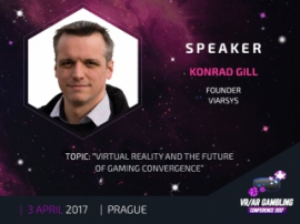 ViARsys founder – Konrad Gill – is a speaker at VR/AR Gambling Conference