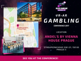VR/AR Gambling Conference will take place in Andel`s by Vienna House Prague