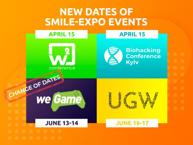 Attention! Smile-Expo Coming Events Are Moved Due to Ukraine's Quarantine Restrictions
