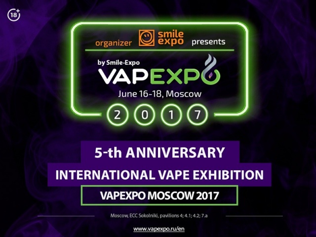 Smile-Expo: prepare for the fifth vape event – VAPEXPO Moscow 2017